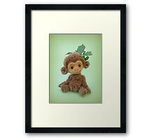 Handmade bears from Teddy Bear Orphans - Charlie Chimp Framed Print