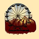 Old Carnival Ferris Wheel by CatAstrophe