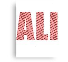 Ali - The Greatest Canvas Print