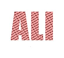 Ali - The Greatest Photographic Print