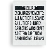 Feminism-ism Canvas Print