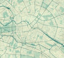 Berlin Map Blue Vintage Sticker