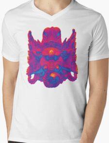Rave on Ganesha - T-Shirt Print Mens V-Neck T-Shirt