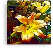 Lily Flower Sketch Canvas Print