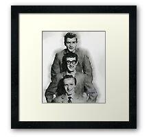 Buddy Holly and the Crickets by John Springfield Framed Print