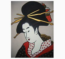 Geisha with red ribbons. Unisex T-Shirt
