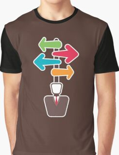 men with different direction Graphic T-Shirt