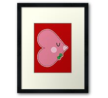 Pocket man: Heartfish 1 Framed Print