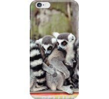 Lemur family iPhone Case/Skin