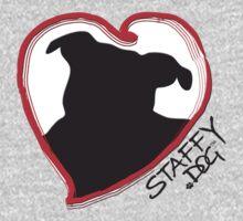 Staffy Dog in My Heart Kids Tee