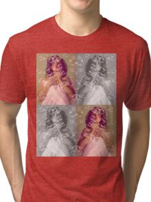 Girl in bubbles Tri-blend T-Shirt