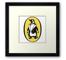 penguin : gentleman Framed Print