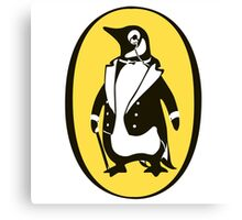 penguin : gentleman Canvas Print