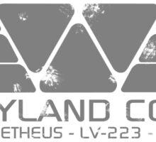 WEYLAND CORP - Weathered Sticker