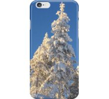 Snow packed trees iPhone Case/Skin