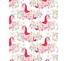 Unicorn // pastel pink white andrea lauren  Photographic Print