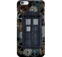 Wooden TARDIS with Clockwork  iPhone Case/Skin