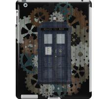 Wooden TARDIS with Clockwork  iPad Case/Skin