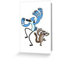 Regular show - mordecai and rigby Greeting Card