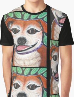 Gracie May Staffy Dog under the lime tree Graphic T-Shirt