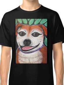 Gracie May Staffy Dog under the lime tree Classic T-Shirt