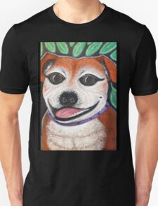 Gracie May Staffy Dog under the lime tree Unisex T-Shirt