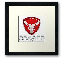 Bravado Car Manufacturer Logo - GTA V Framed Print