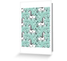 Unicorn // mint pastel andrea lauren  Greeting Card