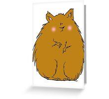 Fat hamster Greeting Card