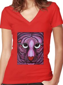 Love Tiger Women's Fitted V-Neck T-Shirt