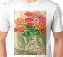 Zinnias Like Lights Unisex T-Shirt