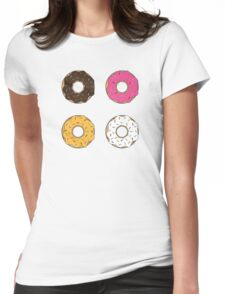 Tasty Donuts Pattern Womens Fitted T-Shirt