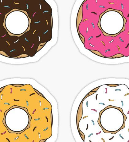 Tasty Donuts Pattern Sticker