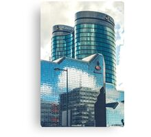 Mirroring office buildings Canvas Print