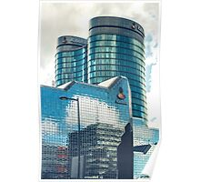 Mirroring office buildings Poster