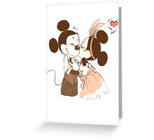 Kiss Mickey and Minnie Greeting Card