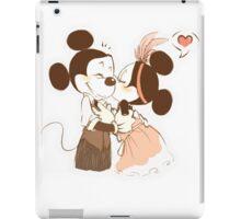 Kiss Mickey and Minnie iPad Case/Skin