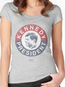 Vintage 1960 Kennedy for President T-Shirt Women's Fitted Scoop T-Shirt