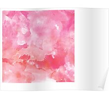 Watercolor Pink Texture Poster