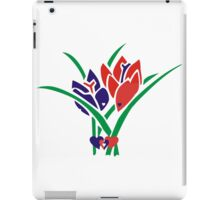 Tulips and hearts Red and Blue iPad Case/Skin