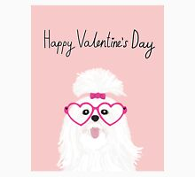 shih tzu small white fluffy puppy valentines day gift for dog person  Classic T-Shirt