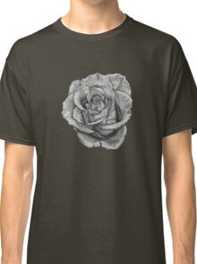 Black And Grey Rose Classic T-Shirt