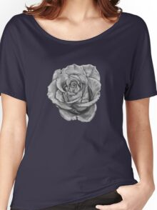 Black And Grey Rose Women's Relaxed Fit T-Shirt