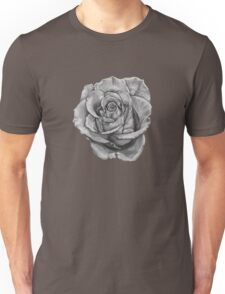Black And Grey Rose Unisex T-Shirt