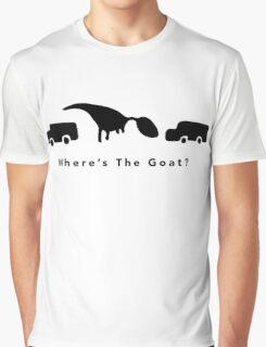 Where's The Goat? (Black) Graphic T-Shirt