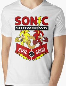 Sonic Showdown Mens V-Neck T-Shirt