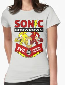 Sonic Showdown Womens Fitted T-Shirt