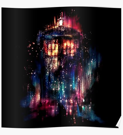 tardis dr who paint  Poster