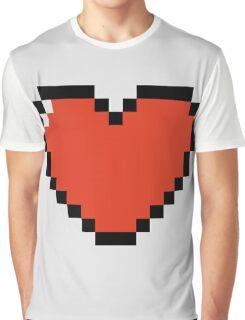 Pixel Heart Graphic T-Shirt