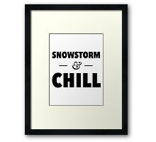 Snowstorm and Chill Framed Print